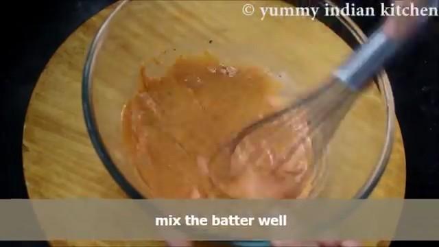 mixing the yogurt