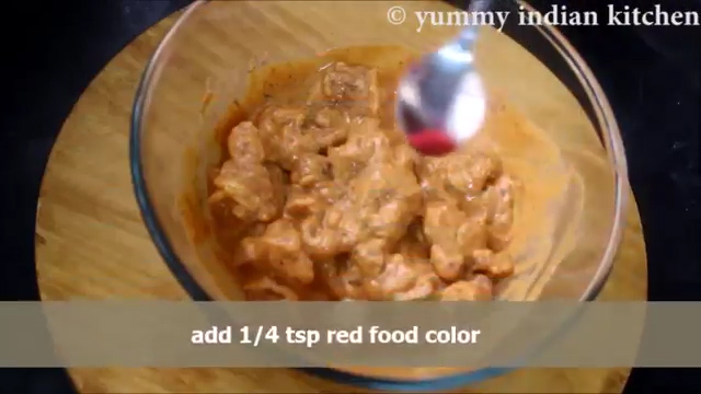 mixing red food color