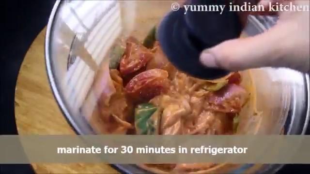 Marinating the chicken