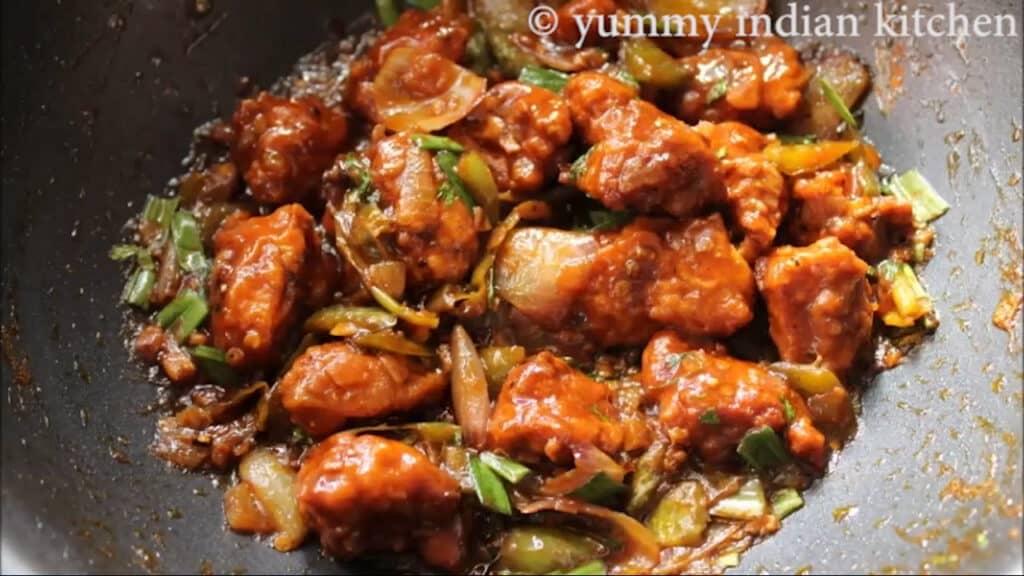 chilli chicken is ready