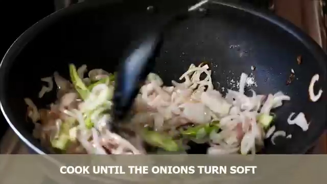 cooking until the onions turn soft