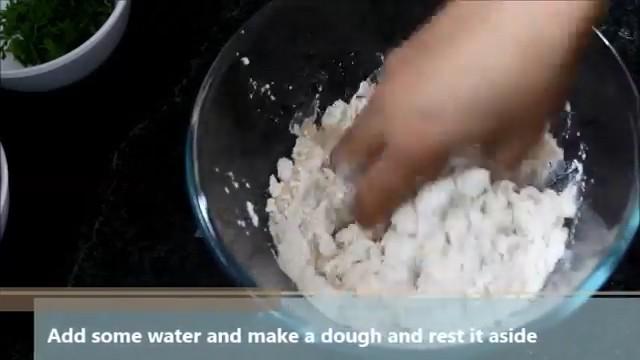 kneading it to make a soft dough