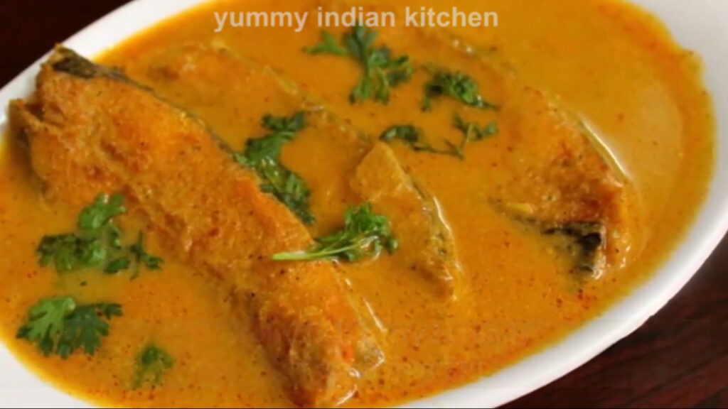 serving the fish curry