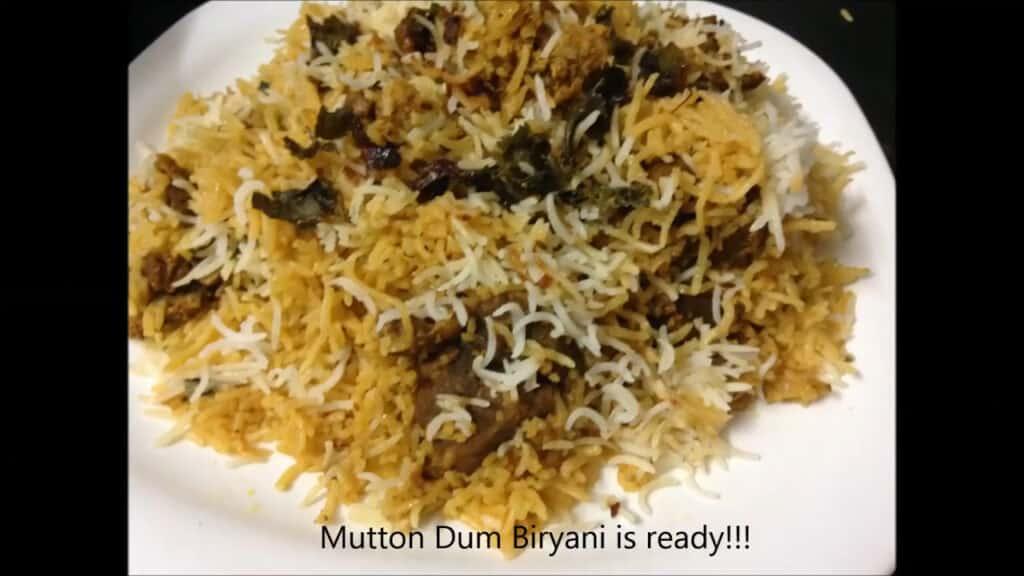 Hyderabadi Mutton Biryani is done