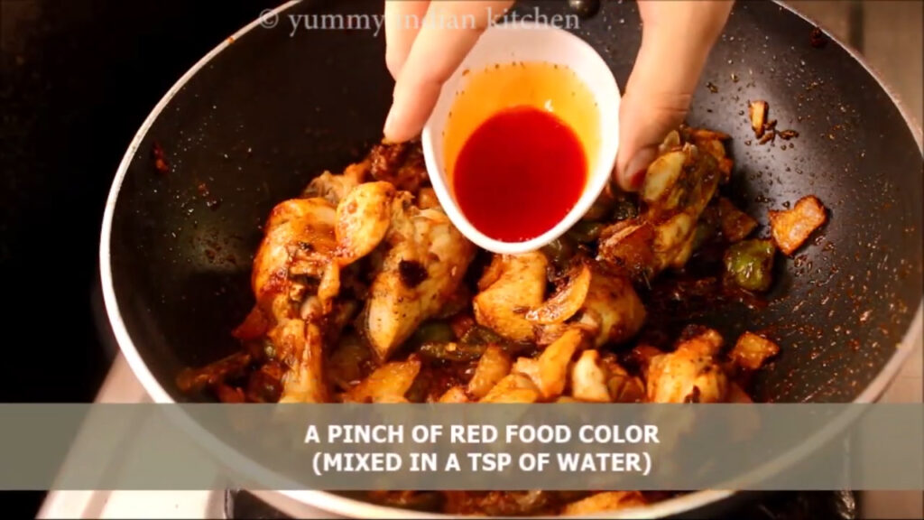Adding red food colour