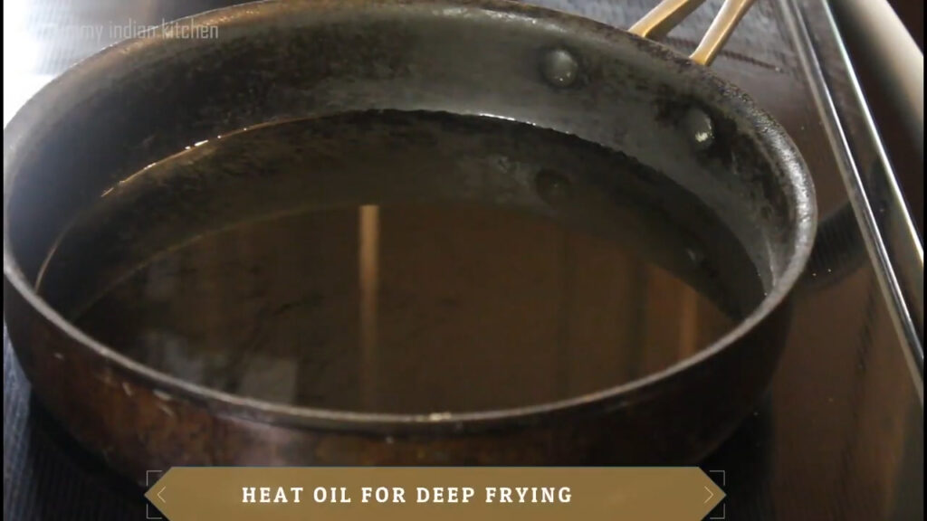Heating oil for deep frying