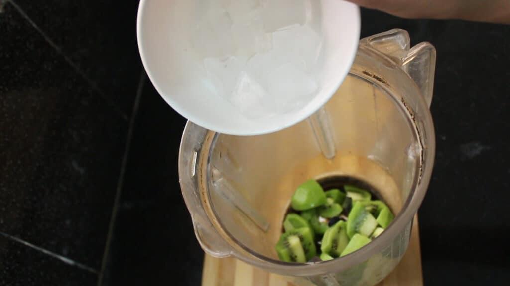 Adding ice cubes