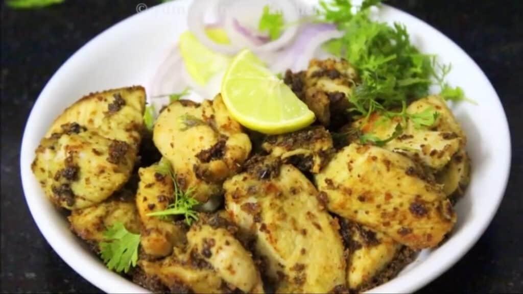 serve the chicken malai tikka