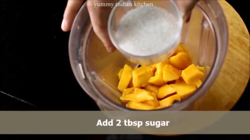 Adding some sugar as per sweetness