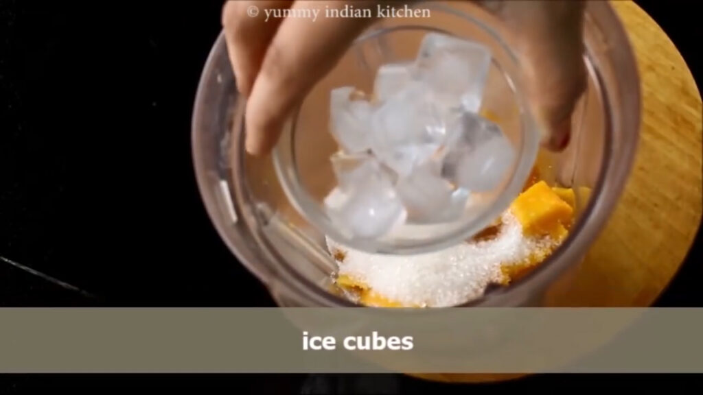 Adding a handful of ice cubes