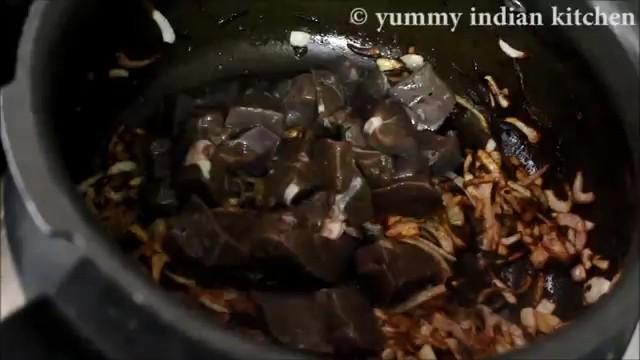 Adding mutton liver to it