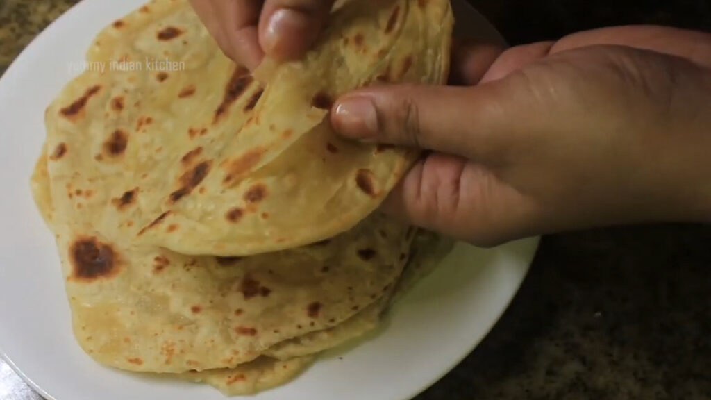 parotta is ready with layers