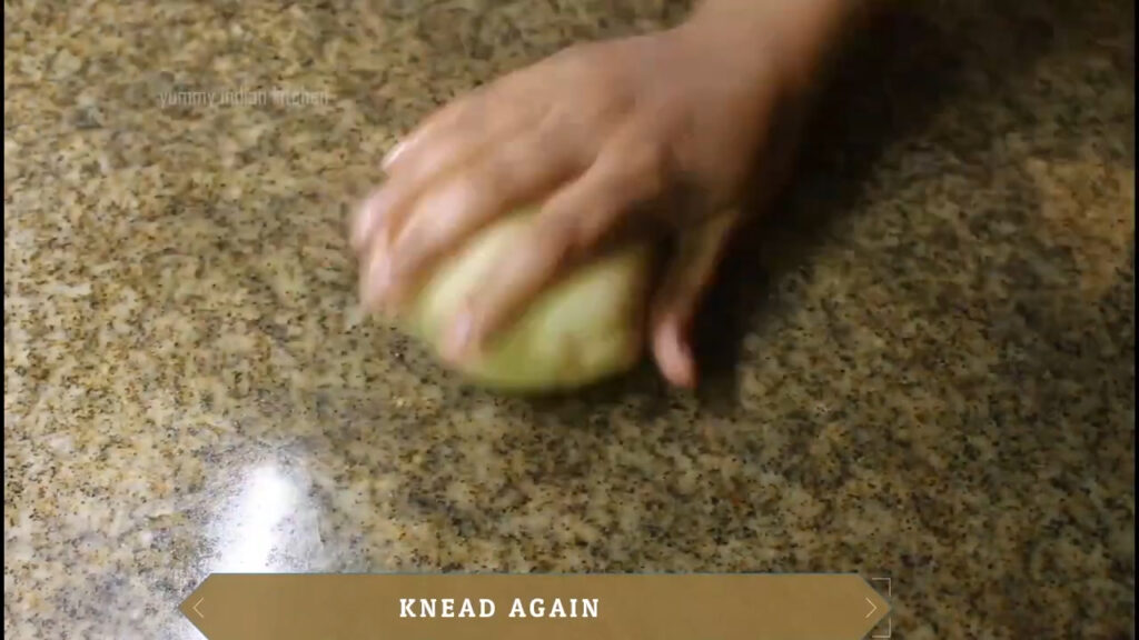 apply a bit of oil to the dough and knead well