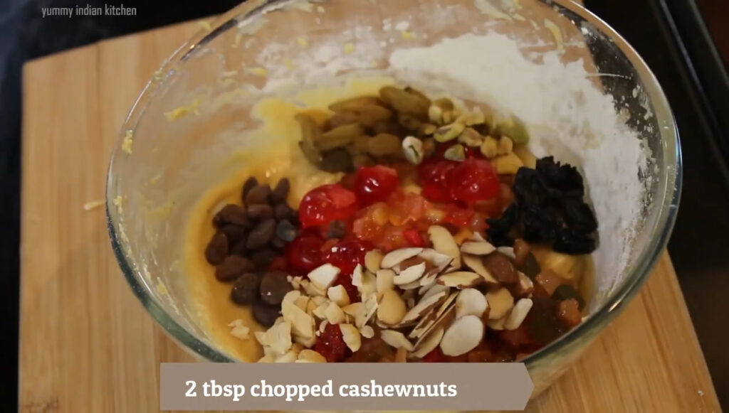 Adding the dry fruits