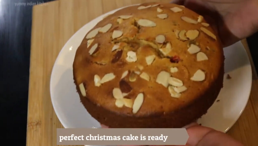 spongy plum cake is ready