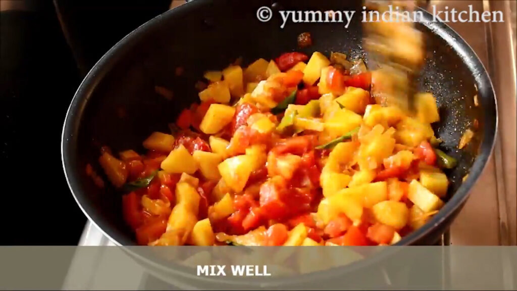 cooking the tomatoes