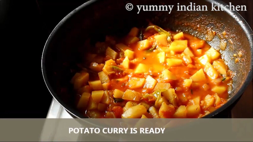 finished step of potato curry
