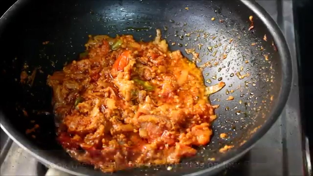 cooking the gravy and masala