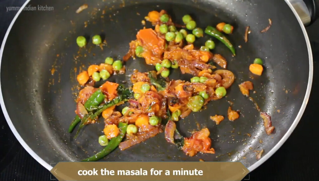 Adding salt as per taste and other spices
