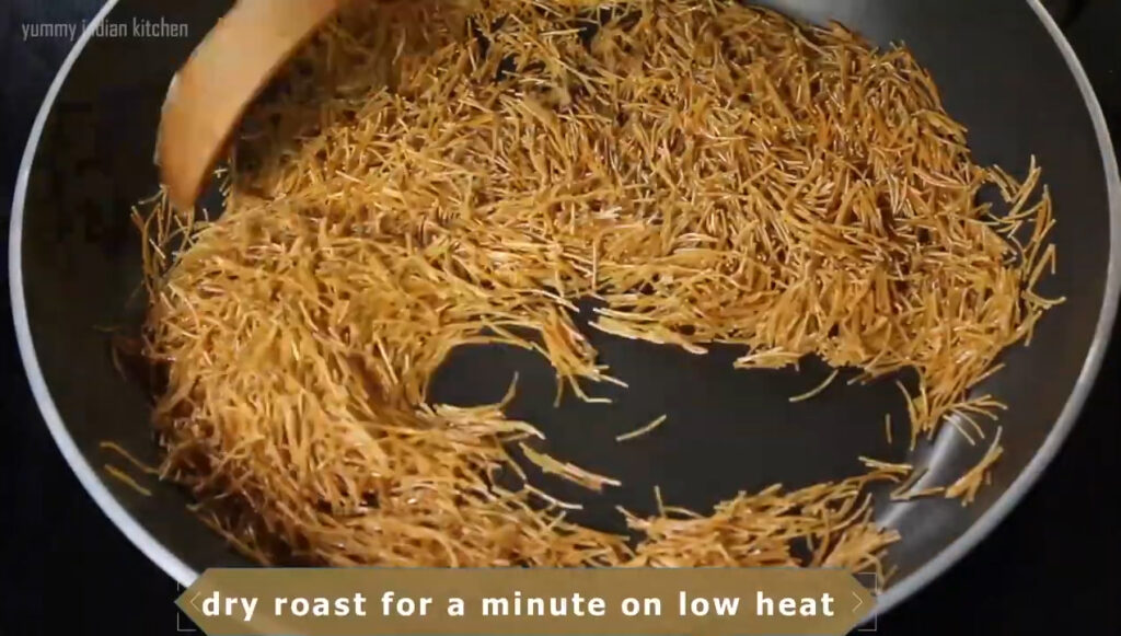 Roast it for 2 minutes by stirring