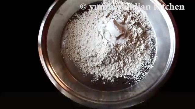 adding wheat flour, adding salt