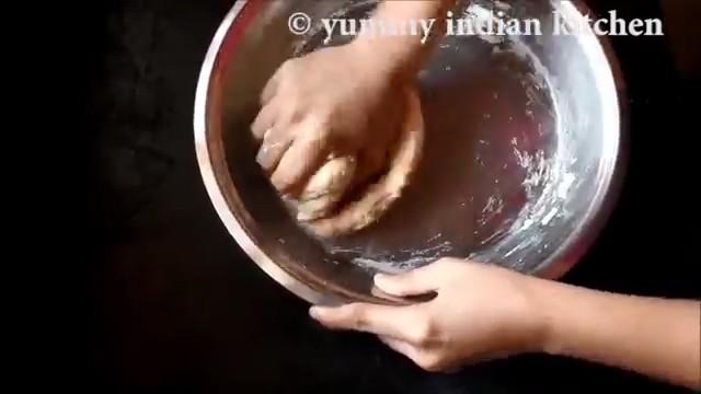 Kneading into a soft dough