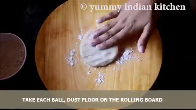 Dusting some flour on the rolling board
