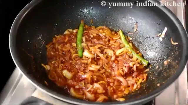 Cooking the masala