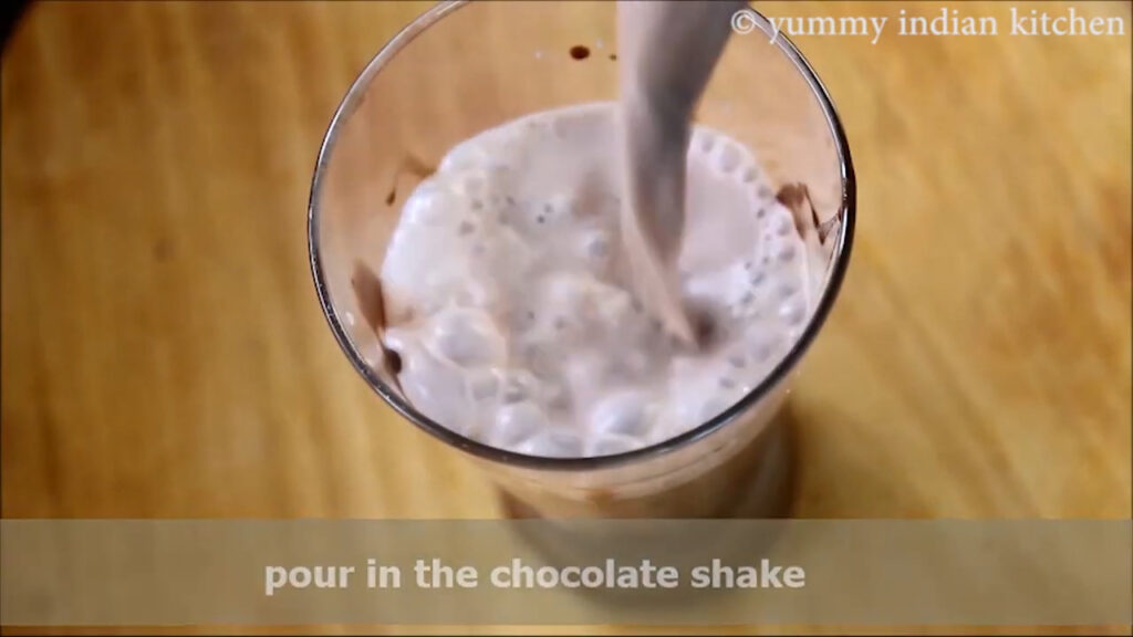 pouring the shake