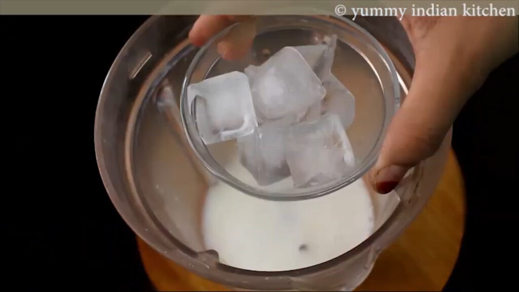 Adding some ice cubes