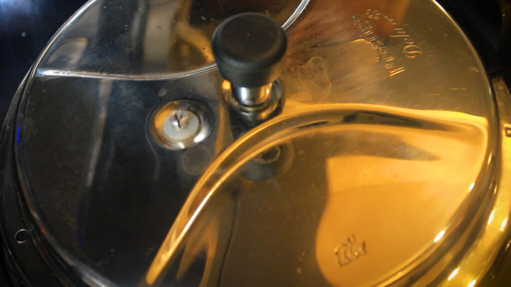 pressure cooking the chops