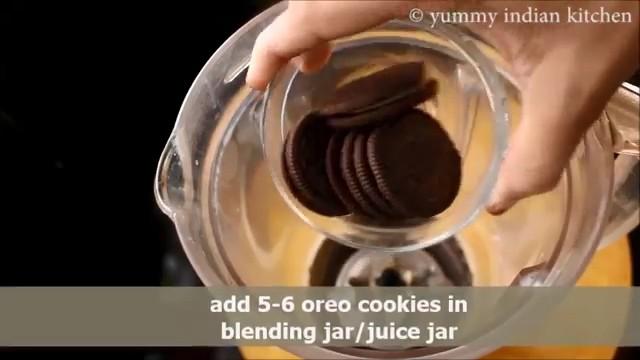 adding oreo cookies