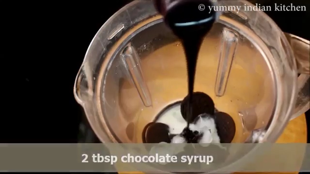 Adding about two tbsp chocolate syrup