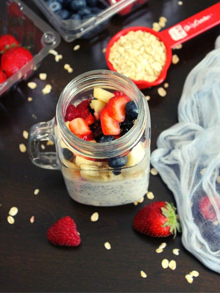 healthy overnight oats recipe for weight loss