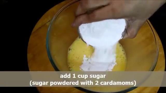 Adding powdered sugar and then adding oil