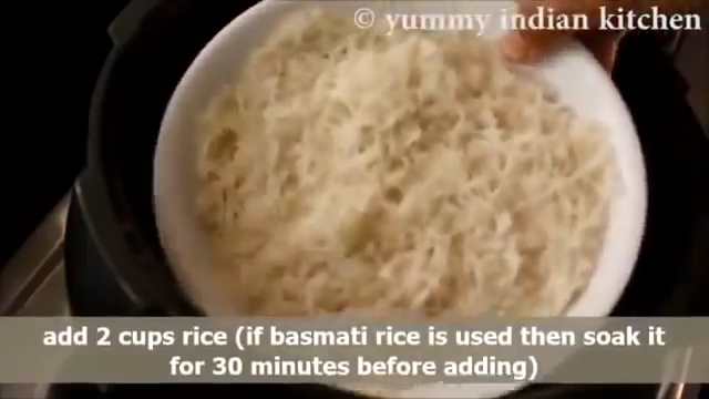 Adding 2 cups of rice