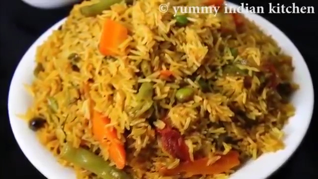 switch off the flame and serve veg biryani in cooker