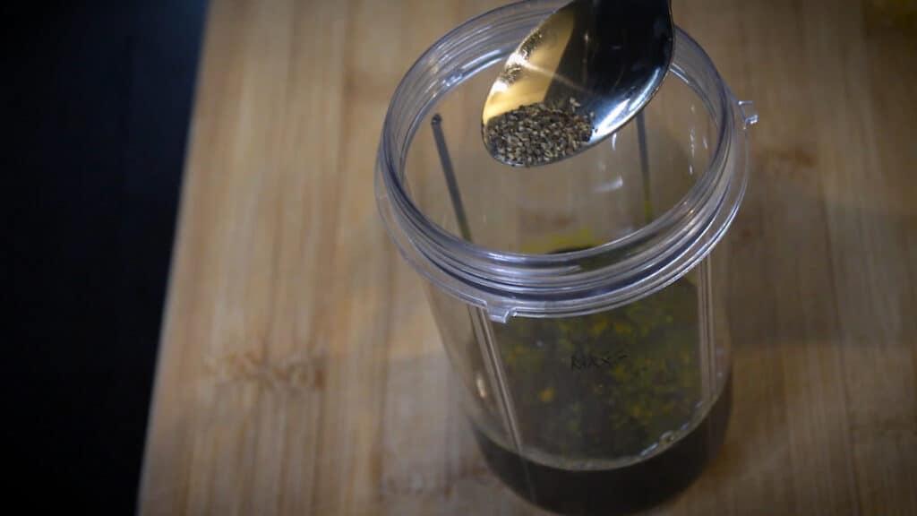 adding black pepper powder