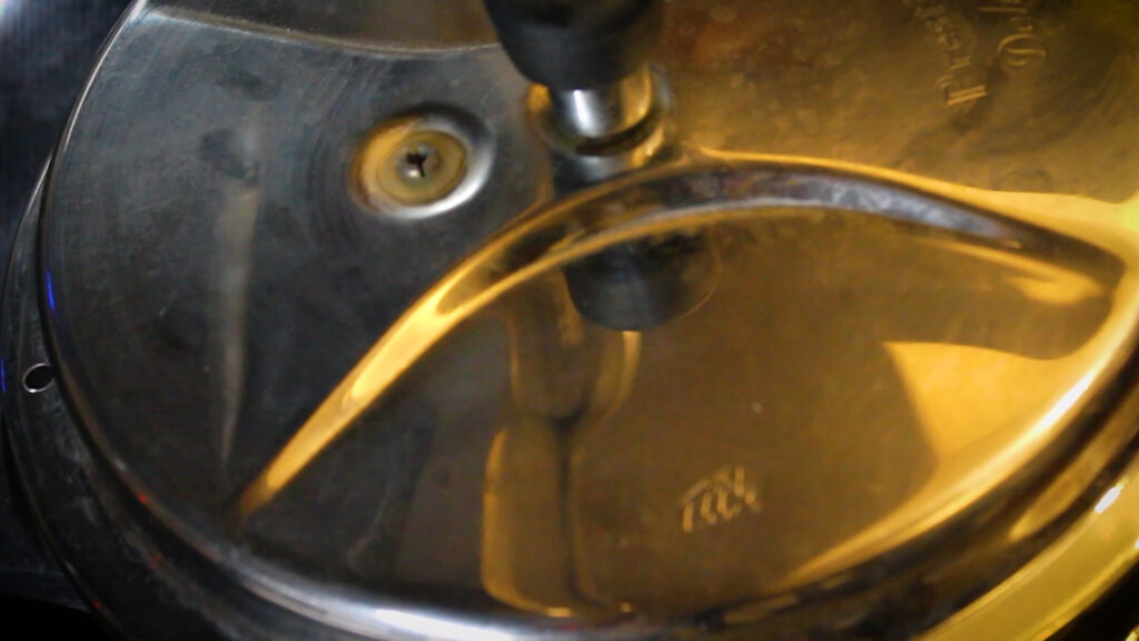 Pressure cooking the mutton