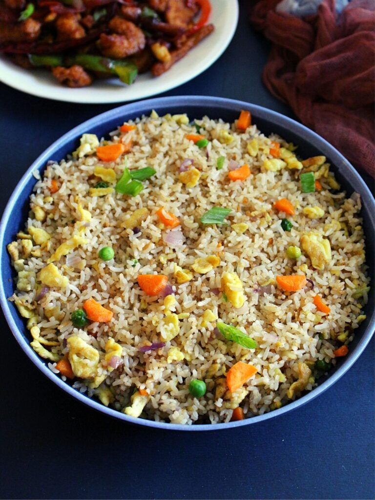 hibachi fried rice served in a bowl