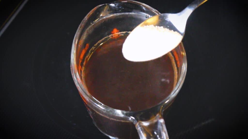 Adding a teaspoon of sugar